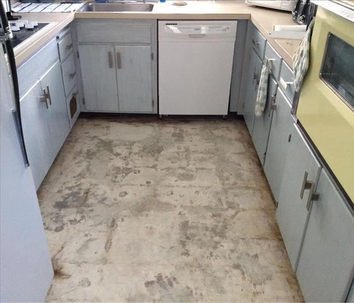 Water Damaged Kitchen in Boca Raton Florida After