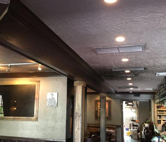 Fire Damage in Local Restaurant  Before